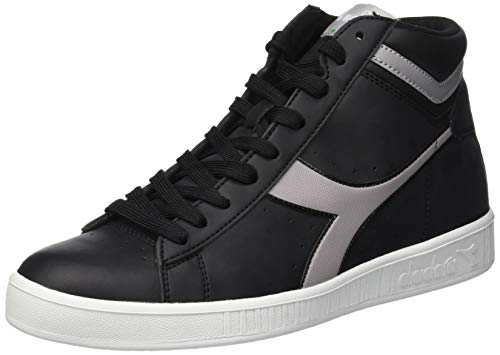 Diadora Game P High, Sneaker a Collo Alto Unisex-Adulto, Nero (Black/Ash C7565), 45 EU