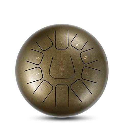 Tongue Tambour 12 Pouces Langue en Acier Percussion Hang Drum Instrument of 11 Notes Pentatonique...