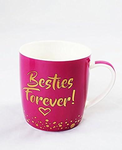 Besties Forever Mug Keepsake Birthday Gift Present For Her Best Friend Cute Pink