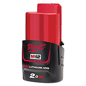 Milwaukee M12B2 – Batería de ión-litio (2,0A), color rojo