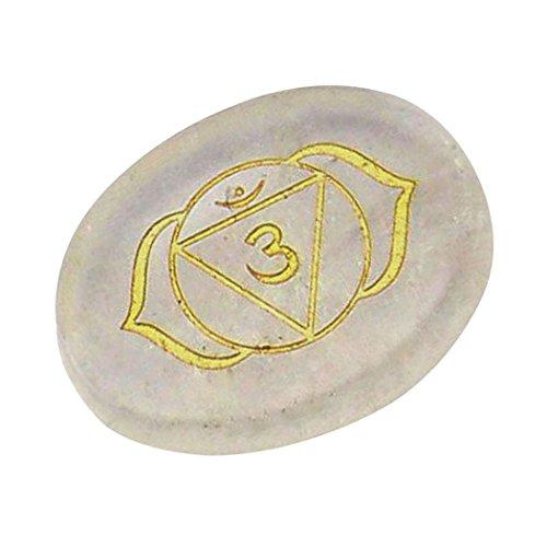 Contever® Incise Pietre di Equilibrio Reiki Chakra Salute Olistica Prodotti per La Cura - 1 Pz Cristallo (Terzo Occhio Chakra)