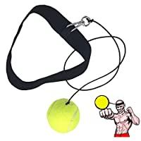 Ueasy Boxing Training Ball Improve You Speed Coordination Reflex Ability Exercise for Gym, Boxing MMA And Other Combat Sports (Yellow)