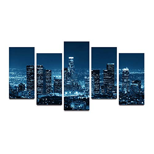 HQATPR 5D Diamant Gemälde Zubehoer Stifte Original Oil Ink Canvas Print City Night View Painting On Canvas Wall Art Picture Home Decor - City-art-giclee Canvas