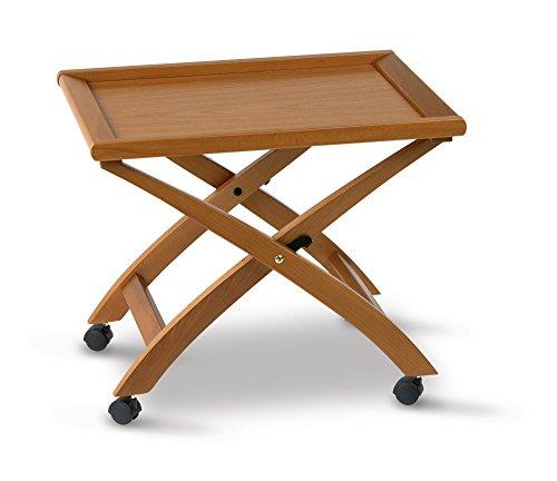 Arredamenti Italia - Mesita BILLY, madera - Plegable - Bandeja extraíble - Color: madera de cerezo Ar-It il cuore del legno