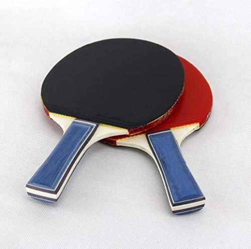 Tischtennis 2-Player-Set (2 Schläger und 3 Bälle) (ideal für Schule, Zuhause, Sportverein, Büro) Professioneller Tischtennisschläger. Erweiterter Tennisschläger. Ping Pong Paddel Easy-Room Tischtennis
