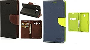 Generic 2 Mercury Dairy Flip Cover Combo For Samsung Galaxy Ace 4 G313 Brown With Blue