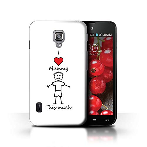 Stuff4® H³lle/Case f³r LG Optimus L7 II Dual/Sohn/Ich Liebe Mama Muster/Ich Liebe Meine Mumie Vati Kollektion