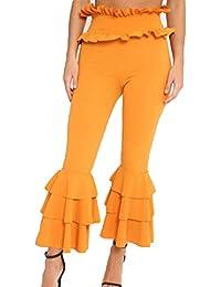 Pantalones Bootcut Mujer Pantalones Casual cintura alta Pantalones acampanados elegantes Pantalones cómodos suaves Pantalones modernos largos sólidos Vestido de noche festivo Juleya