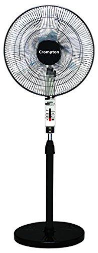 Crompton Windmill 400mm Pedestal Fan (Chrome Black)