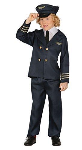 Fancy Me Jungen fluglinienpilot Kapitän Uniform Job Aviator Buch Tag Kostüm Verkleidung 5-12 Jahre - Blau, EU 140-152