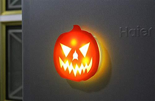 er LED Nachtlicht automatische Infrarot-Induktion des menschlichen Körpers Halloween Kürbis Stereo-Aufladung kreative magnetische Aufkleber @ 电池 3M Offset ()
