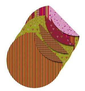 Origami-Papier, Helsinki Durchmesser: 10 cm, 80 gDoppelseitig - mit Druck aus der Vivi Gade Design Serie - Packung mit 4 Design 50 Blatt