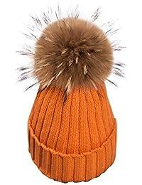Simplee Apparel Women  s Winter Warm crochet Knit pompon Bobble Ski  snowboard sombrero gorro de 43fe73cca26f