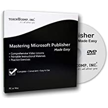 Mastering Microsoft Publisher 2016 and 2013 Made Easy Video Training Tutorial DVD-ROM Course