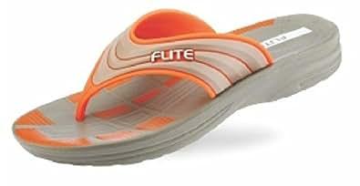 Flite Men's Olive Orange Flip Flops and House Slippers (FL-236) (6 UK)