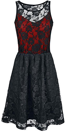Black Premium by EMP Darling Dress Abito rosso L