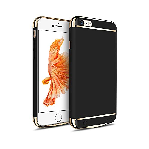 MYGIRLE Batterie-Kasten 2500 / 3500mAh Fall Charging für iPhone 6 / iPhone 6s 4,7/5,5-Zoll-Energien-Bank-Ladegerät-Fall Wiederaufladbare Juice Pack,Black,i6/6s[2500mah]