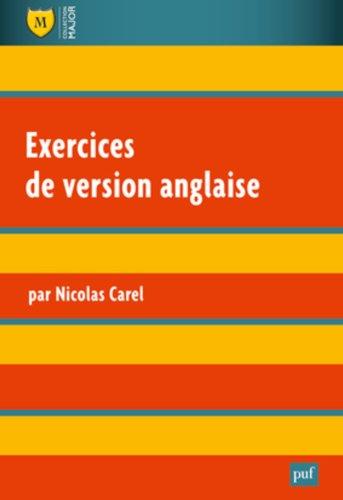 Exercices de version anglaise