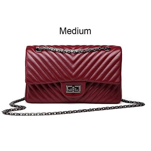 Gucci Canvas Mini (ANANXILA Kleine Schultertasche Lady V Streifen Crossbody Taschen Frauen Messenger Medium Red)