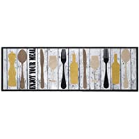 BSM 2000 Tapis de cuisine, 150 x 50 cm, Antidérapant, Absorbant, Facilement lavable en machine 30°, Large choix de motifs