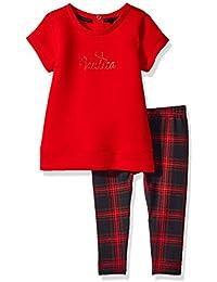 Nautica Baby Girls' Knit Top and Legging Set