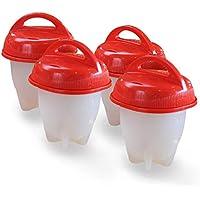 JaLL 6Egglettes di cucchiaio di cucina, silicone, rosso, L