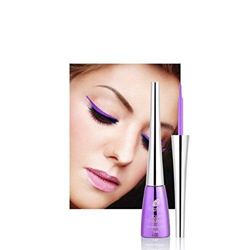 MM Eyeliner waterproof colore non è fioritura trucco eyeliner Europa e America Farres lucido,viola,Taglia unica