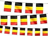 Wimpel Dekoration Belgien 00/1013 Länderwimpel Länderfahnen Girlande Wimpelkette Länderflaggen Fanartikel von Alsino