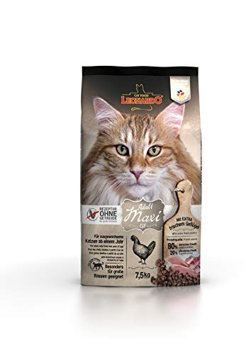 Leonardo Adult GF Maxi [7,5kg] Katzenfutter | Getreidefreies Trockenfutter für Katzen | Alleinfuttermittel für große Katzenrassen ab 1 Jahr