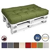 Beautissu Palettenkissen Eco Style Sitzkissen 120x80x15 cm Palettenauflage in Grün Palettenpolster mit Oeko-Tex