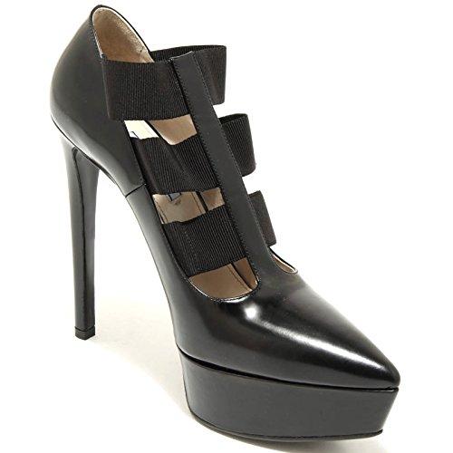 2519G decollete nero PRADA VITELLO SPAZZOLATO scarpa donna shoes women Nero