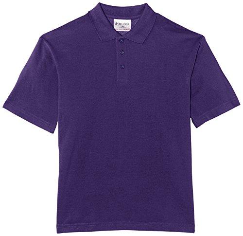 Trutex Limited Jungen Poloshirt, Einfarbig Violett