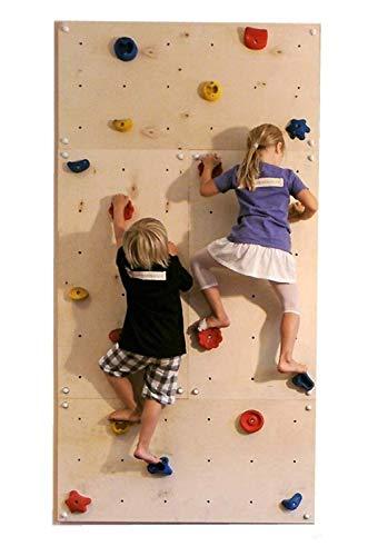 Mur d'escalade intérieur IW4 4 panneaux muraux 240 x 120 cm avec 25 prises d'escalade de Gartenpirat®