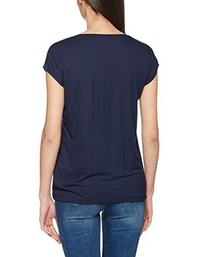 PIECES Damen T-Shirt Pcbillo Tee Solid NOOS Blau (Navy Blazer Navy Blazer)
