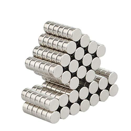 Wukong Neodym Magnete,Aitsite 105 Stücke Ultra-Starke Supermagnete 6 x 3 mm Mini Magnete für Whiteboard, Magnettafel, Magnetstreifen
