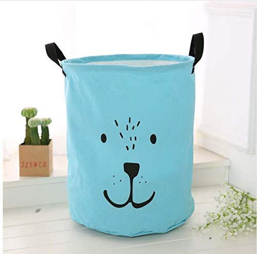chenxing Cotton Linen Large Laundry Basket Foldable Dirty Clothes Storage Hamper Baby Kids Room Toys Organizer Sundries Storage Bin B (Toy Storage Bin)
