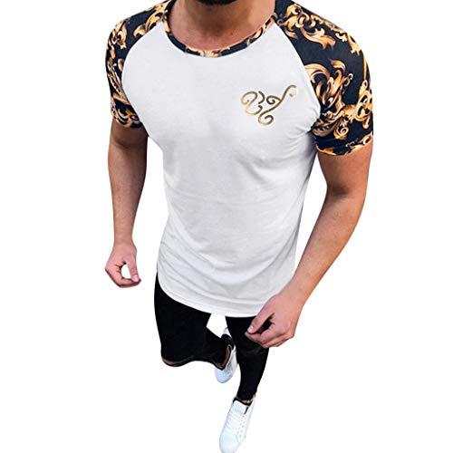Berimaterry Camiseta de Camuflaje Hombre Militares Camisetas Deporte Ropa Deportiva Camisa de Manga Corta de Camuflaje Slim fit Casual para Hombres Tops Blusa Rayas Casual de Verano