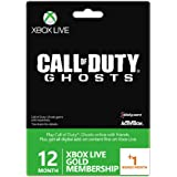 Xbox Live Gold 12-Month Membership Card With 1 Bonus Month - Call Of Duty Ghosts Branded (Xbox One/360) [Importación Inglesa]