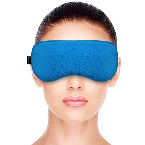 Healifty Warm Augenmaske - Beheizte Augenkompresse - Mikrowelle Heizung - Hot Eye Mask mit Samtbezug für trockenes Auge, Styes, Meibomian Gland Dysfunction Relief -