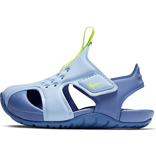 Nike Unisex Baby Sunray Protect 2 (td) Niedrige Hausschuhe, Mehrfarbig (Aluminum/Volt/Indigo Storm 000), 22 EU