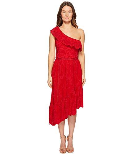 The Kooples Robe asymétrique en Coton pour Femme - Rouge - 32