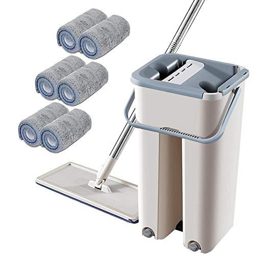 lingzhuo-shop Set mop in microfibra con asta telescopica per lavaggio a mano libera famous opportune