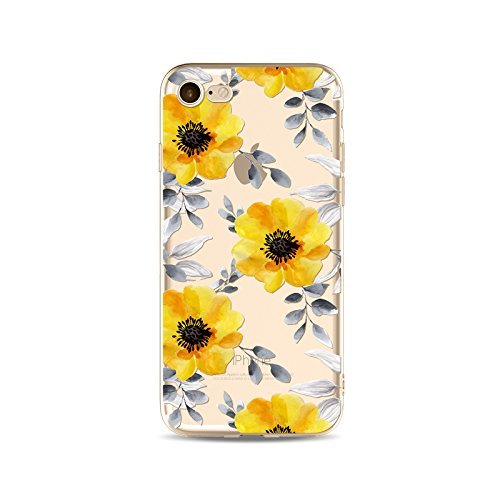 Coque iPhone 7 Plus Housse étui-Case Transparent Liquid Crystal Fleur en TPU Silicone Clair,Protection Ultra Mince Premium,Coque Prime pour iPhone 7 plus (2016)-style 4 style 13