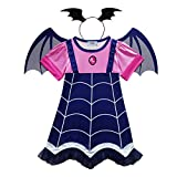 Weihuimei - Costume da vampiro da bambine, per Halloween, feste e cosplay, As the picture, 110 cm