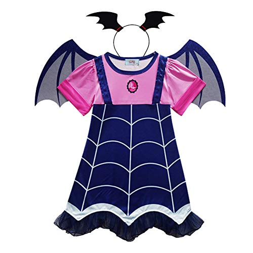 Weihuimei - costume da vampiro da bambine, per halloween, feste e cosplay, as the picture, 120 cm