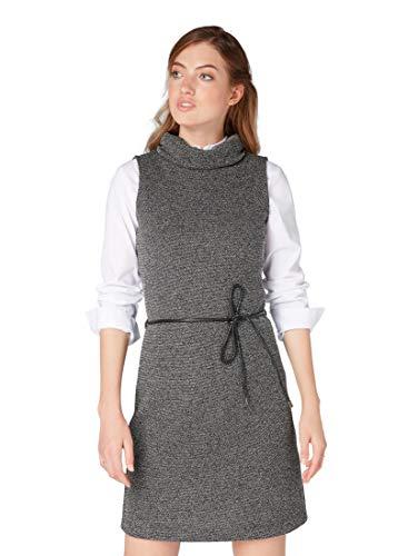 TOM TAILOR für Frauen Kleider & Jumpsuits Ärmelloses Kleid mit Schnürung Black, 38