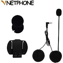 VNETPHONE® Clip Micrófono Auriculares para V6 Motocicleta Casco Bluetooth Intercomunicador Interphone