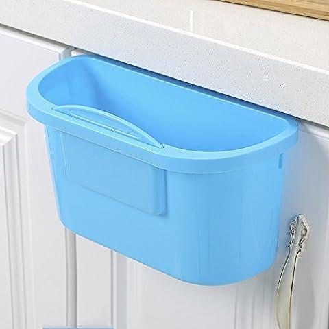Cucina Trash creativi Cabinet ante battenti barili di detriti pattumiere scatola di plastica desktop di storage (più colori disponibili) ( colore : D
