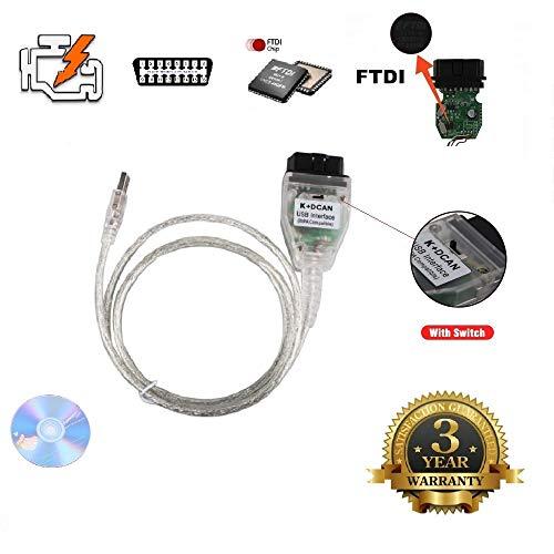 USB OBD2 OBDII USB INPA / Ediabas - K + DCAN pour BMW 1998-2012 modèles Diagnostic / codage de voiture voiture OBD 2 Interface voiture