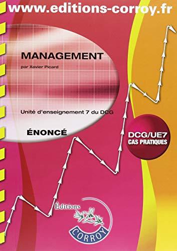 Management Énoncé: UE 7 du DCG